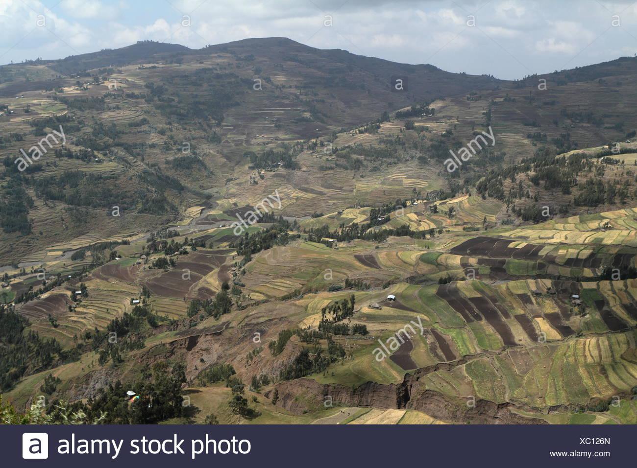 the landscape at lalibella in ethiopia - Stock Image