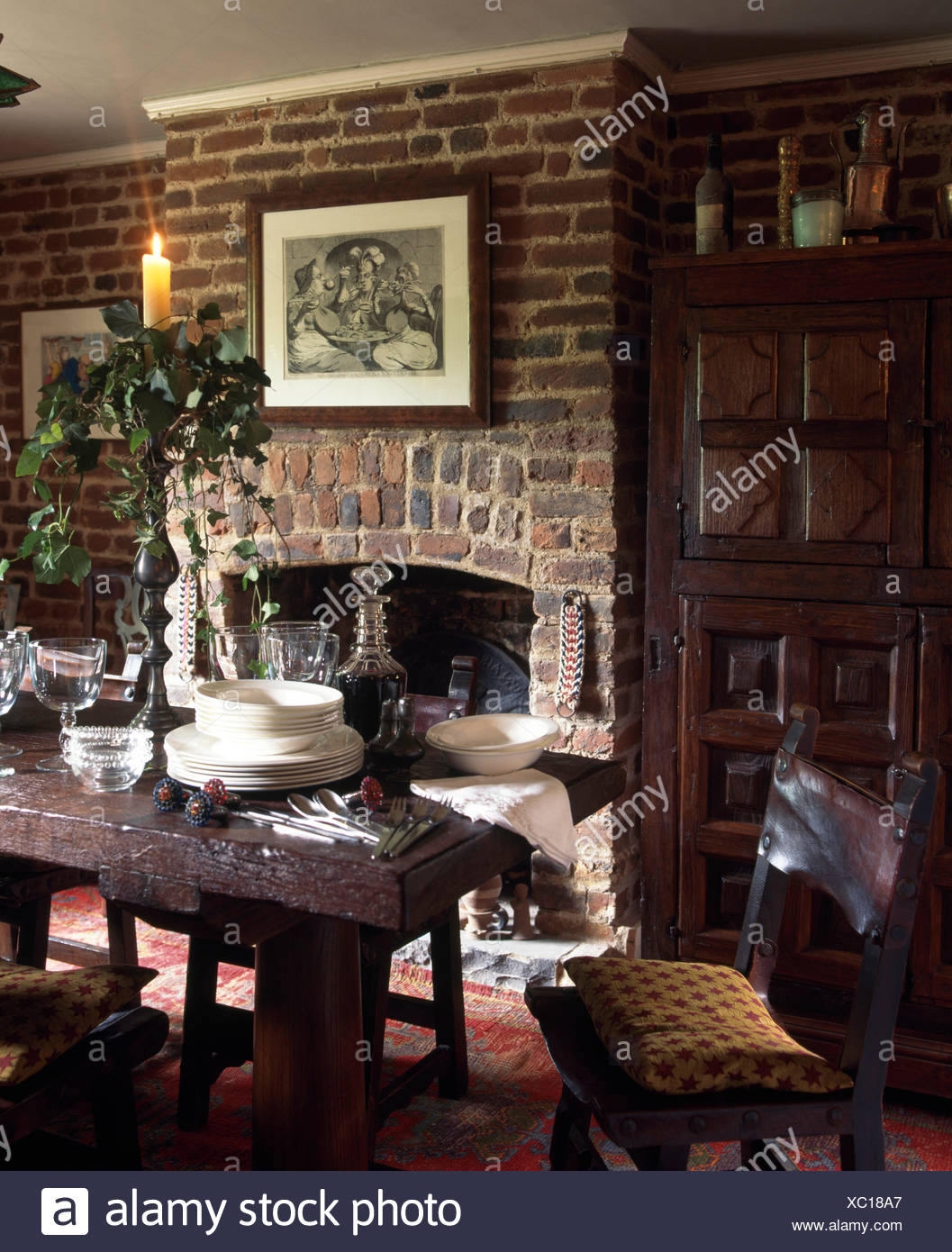 Amazing Rustic Jacobean Style Chairs And Oak Table In Very Squirreltailoven Fun Painted Chair Ideas Images Squirreltailovenorg