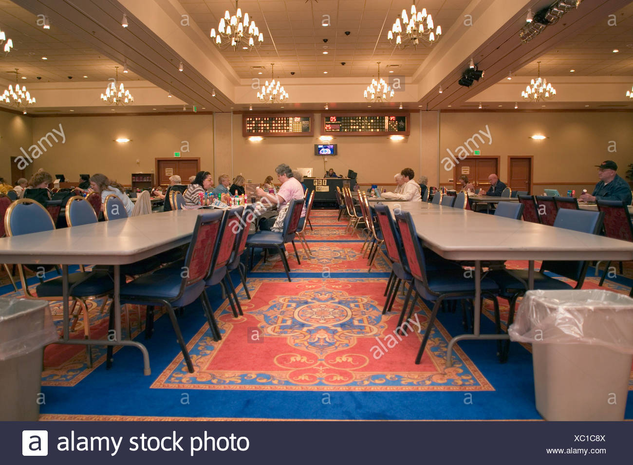 Public dining hall - Stock Image