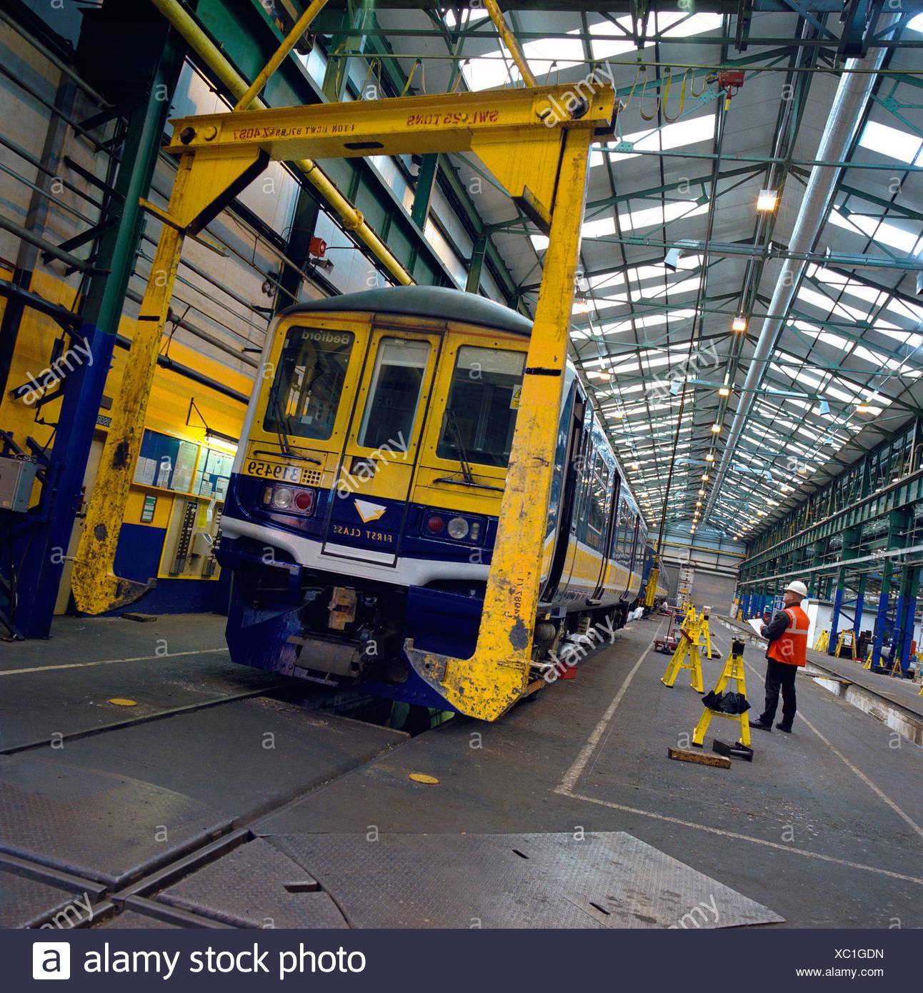 Rail Maintenance Selhurst depot London - Stock Image