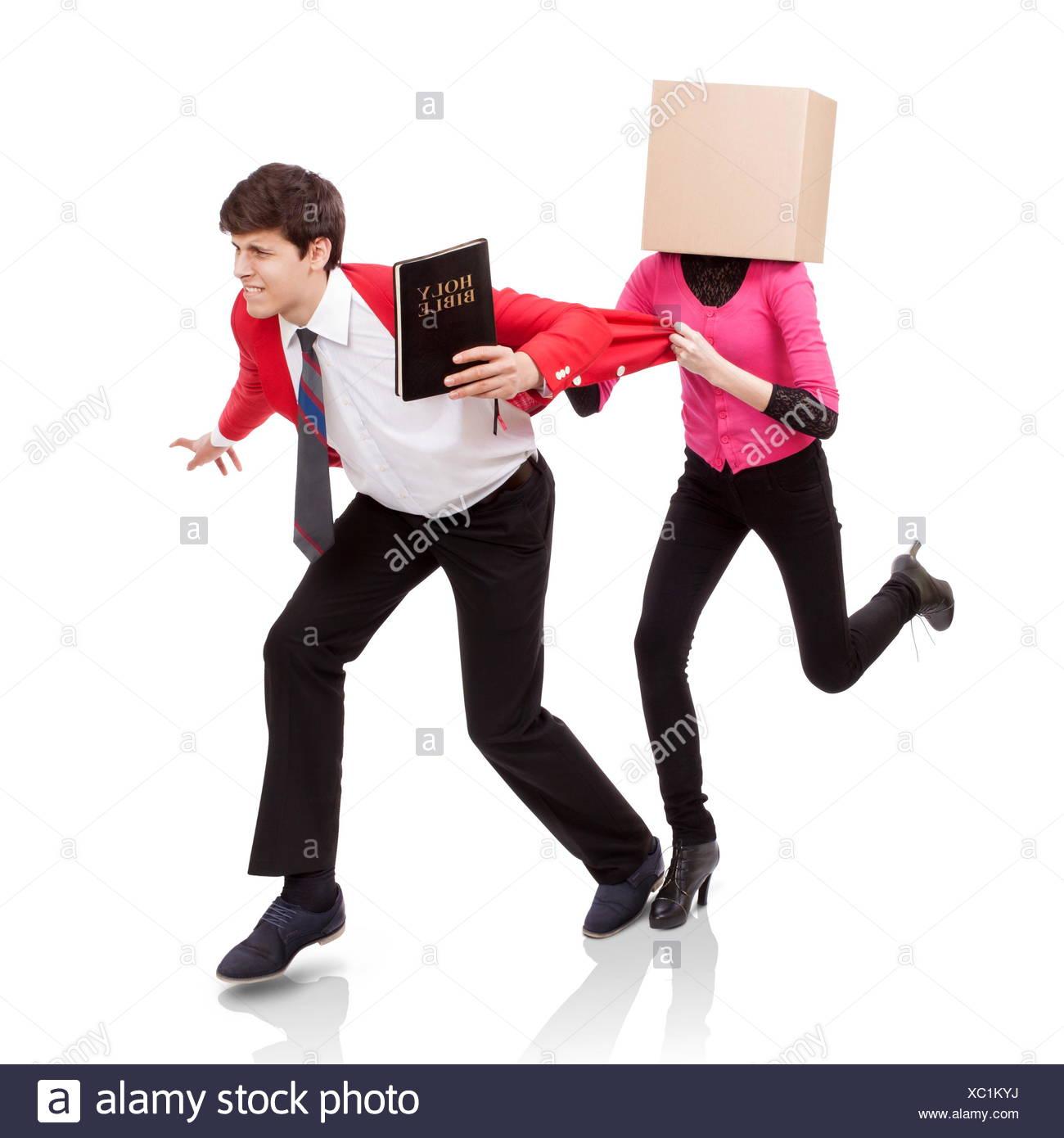 Flee the evil desire - Stock Image