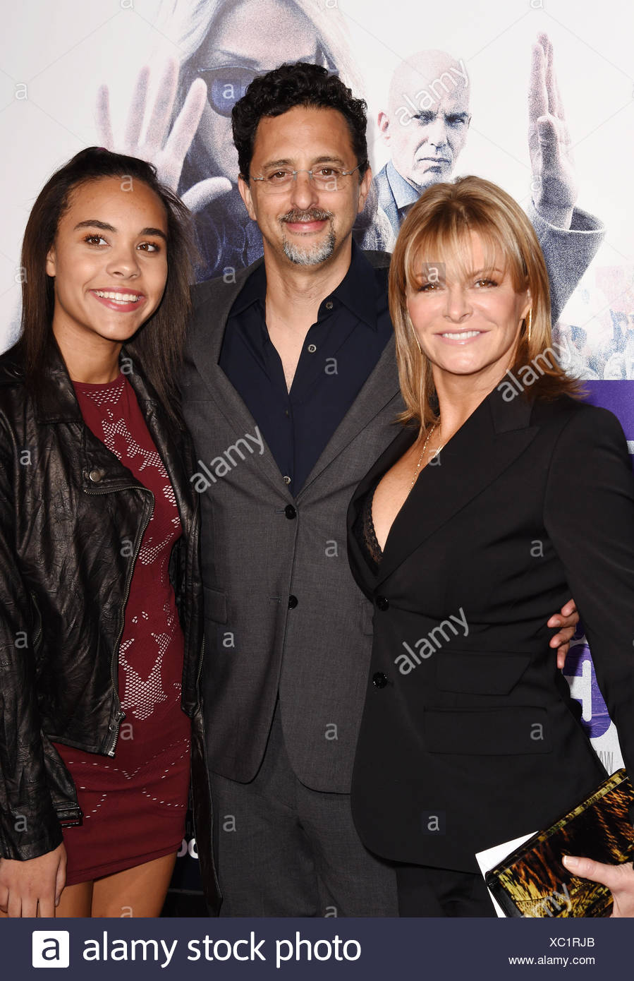 Producer Grant Heslov (C) and guests arrive at the premiere of Warner Bros. Pictures' 'Our Brand Is Crisis' at TCL Chinese Theatre on October 26, 2015 in Hollywood, California., Additional-Rights-Clearances-NA - Stock Image