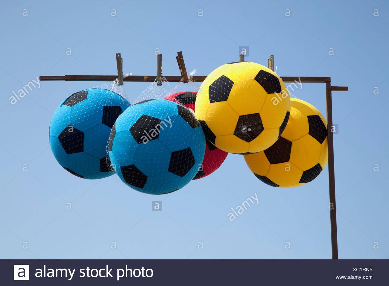 Soccer balls - Stock Image