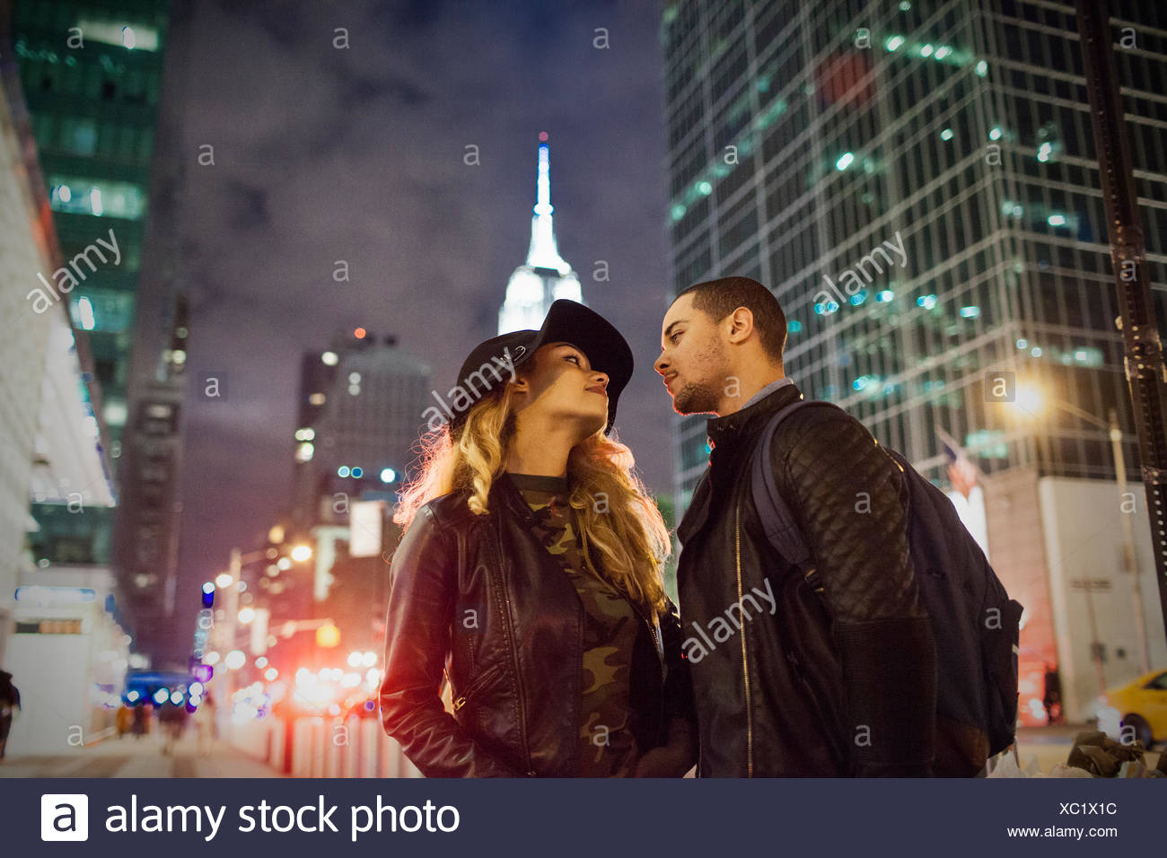 Portrait of an attractive young couple - Stock Image