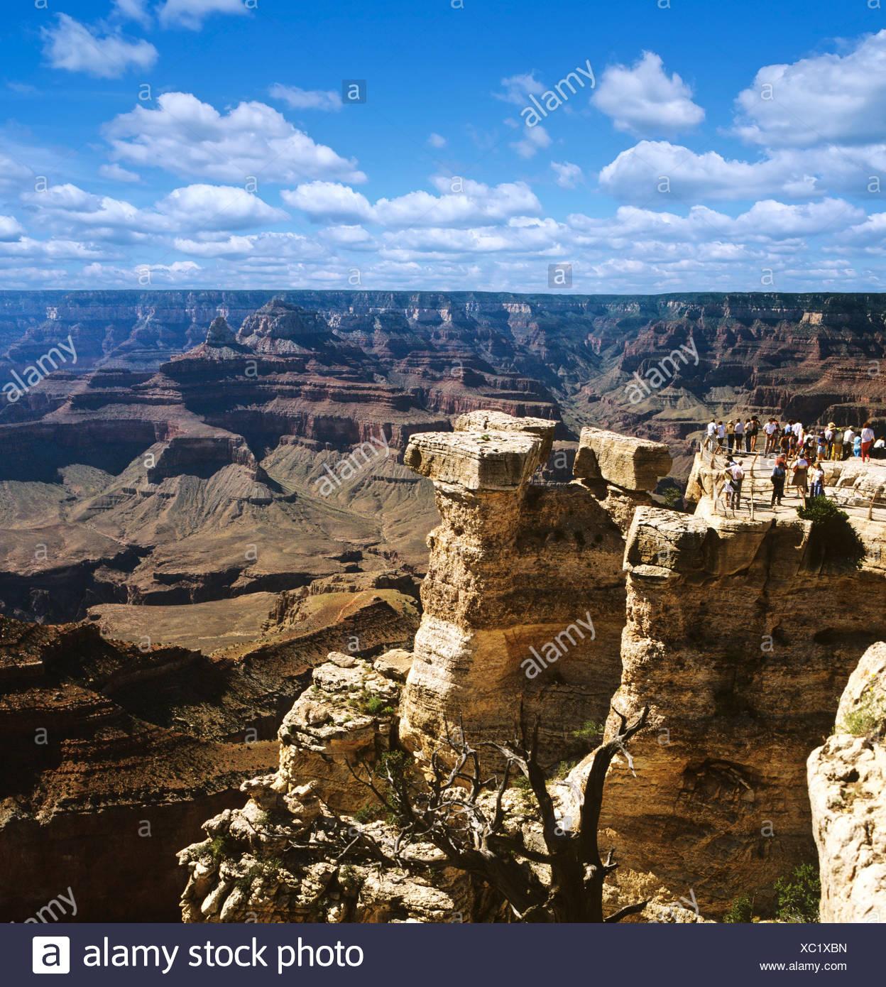 Grand Canyon, lookout point, Colorado, Colorado Plateau, Arizona, USA Stock Photo