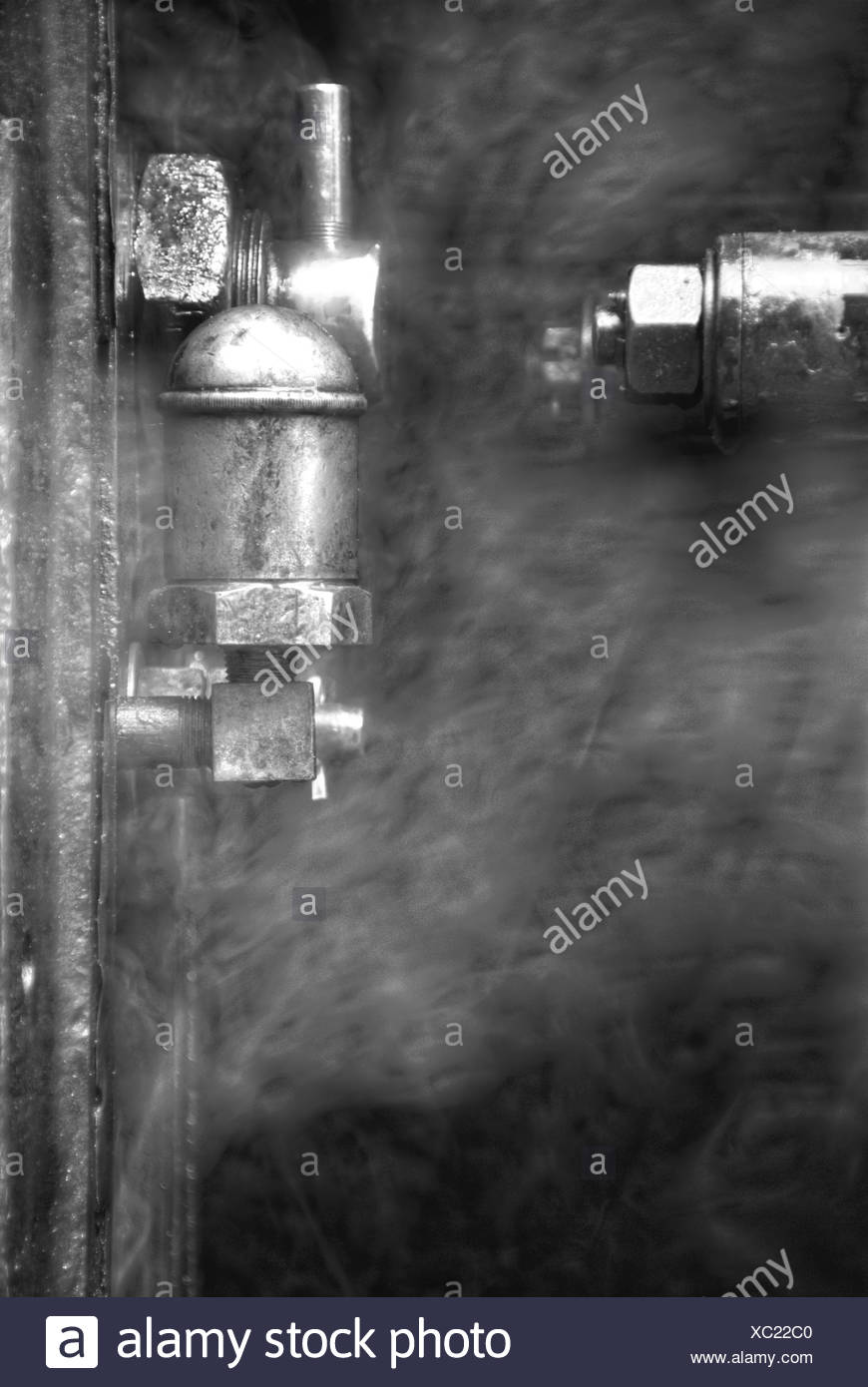 Mechanism with steam - Stock Image