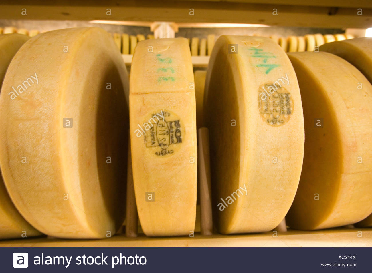 Gstaad, CHE, 23.07.2006: Cheese cathedral of the dairy Gstaad. - Stock Image