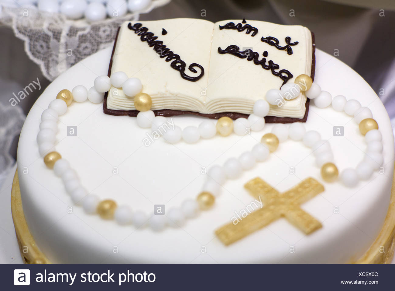 Fabulous Religious Sweet Party Celebration Cake Pie Cakes Communion Funny Birthday Cards Online Inifodamsfinfo