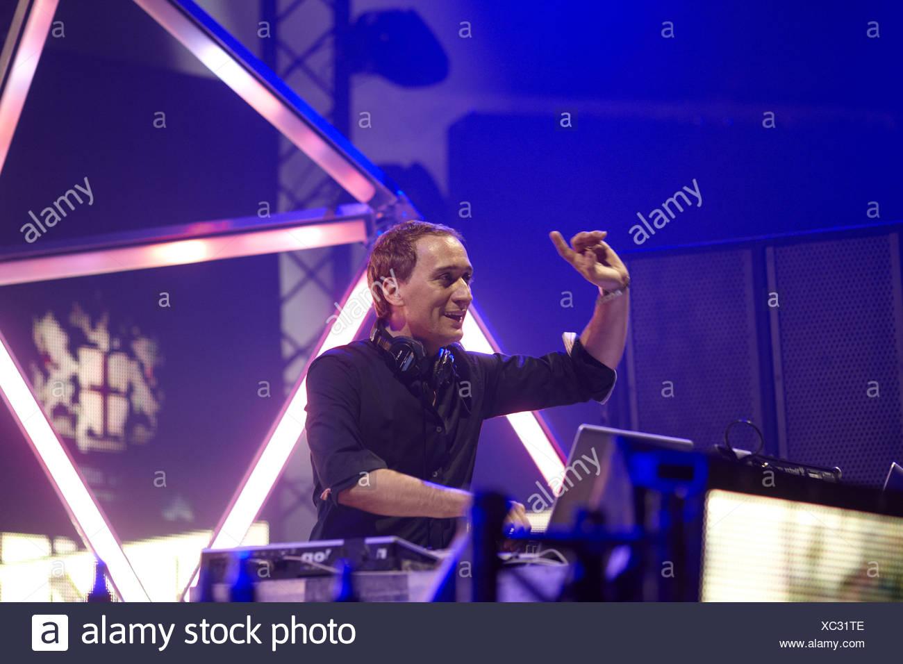 DJ Paul van Dyk, techno festival Mayday 2011 in the Westfalenhalle Dortmund venue, Dortmund, North Rhine-Westphalia - Stock Image