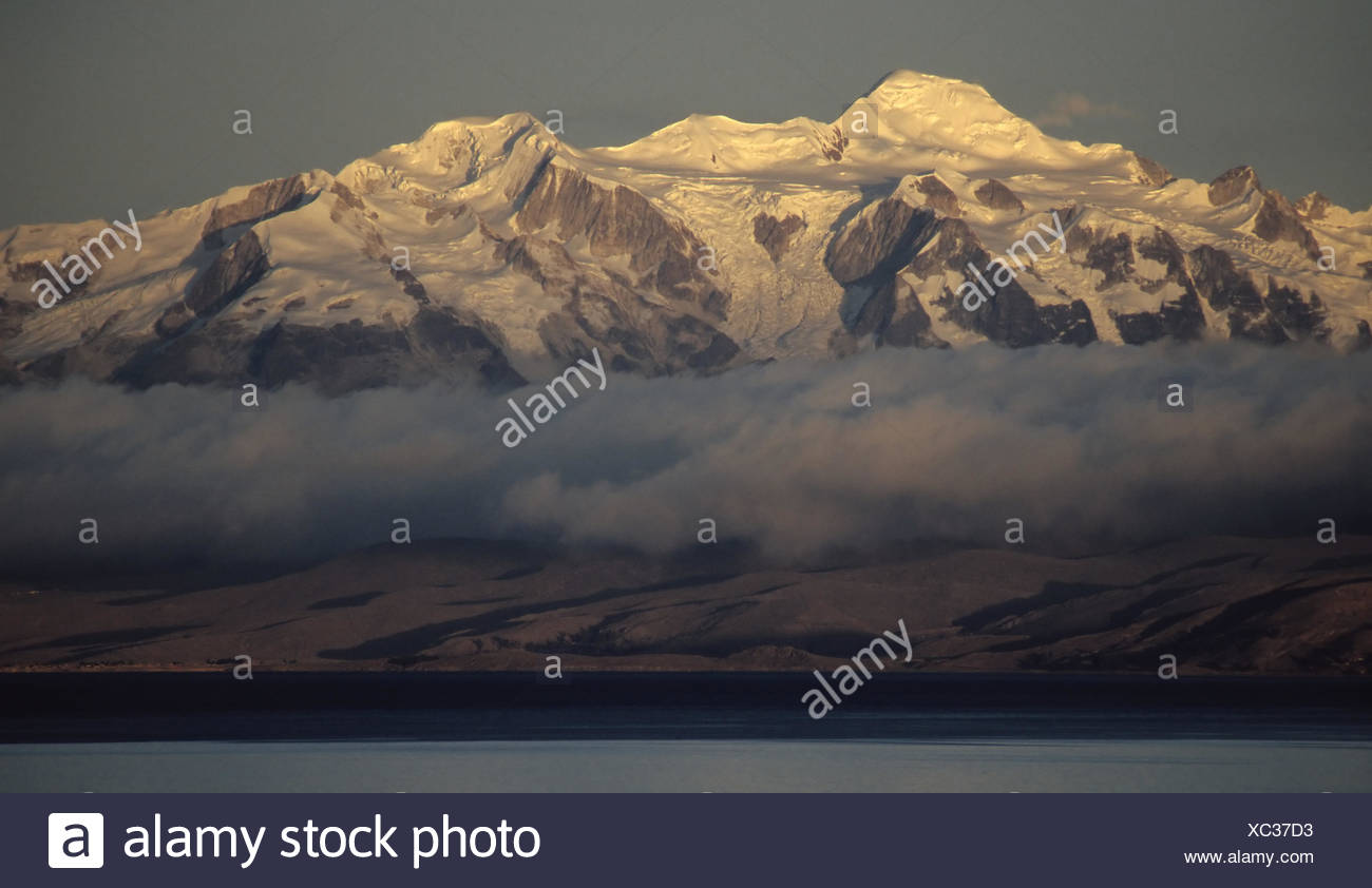 andes in the evening light - Stock Image