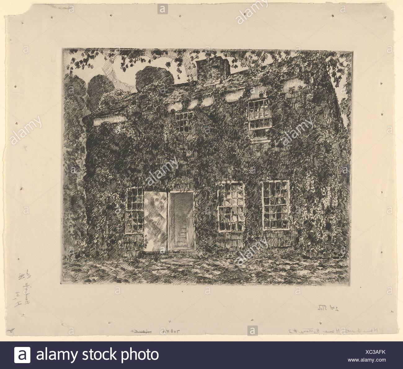 Home Sweet Home Cottage No. 3, Easthampton. Artist: Childe Hassam (American, Dorchester, Massachusetts 1859-1935 East Hampton, New York); Date: 1928; - Stock Image