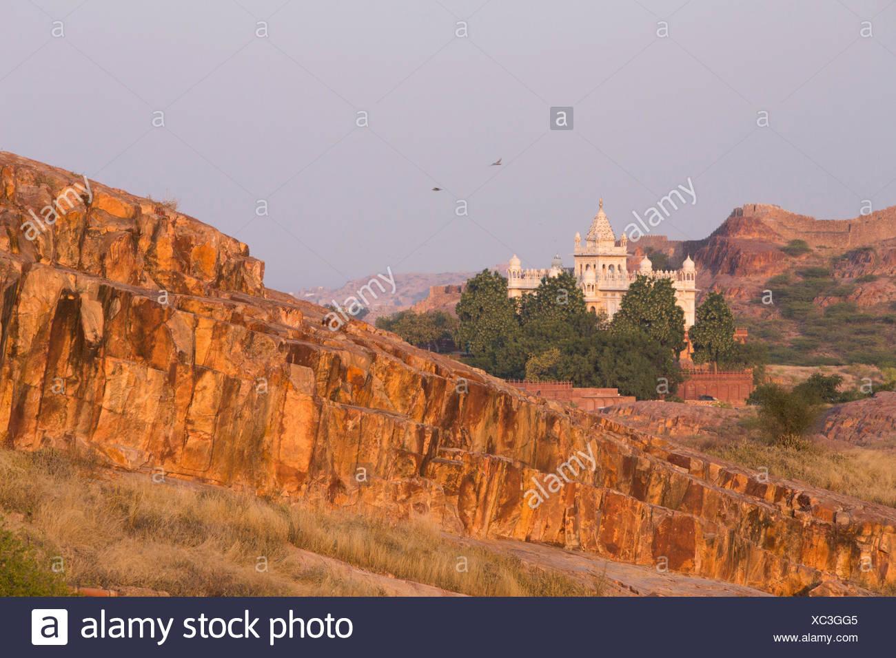 Jaswant, Thada, Jodhpur, Rajasthan, Asia, India, castle, - Stock Image