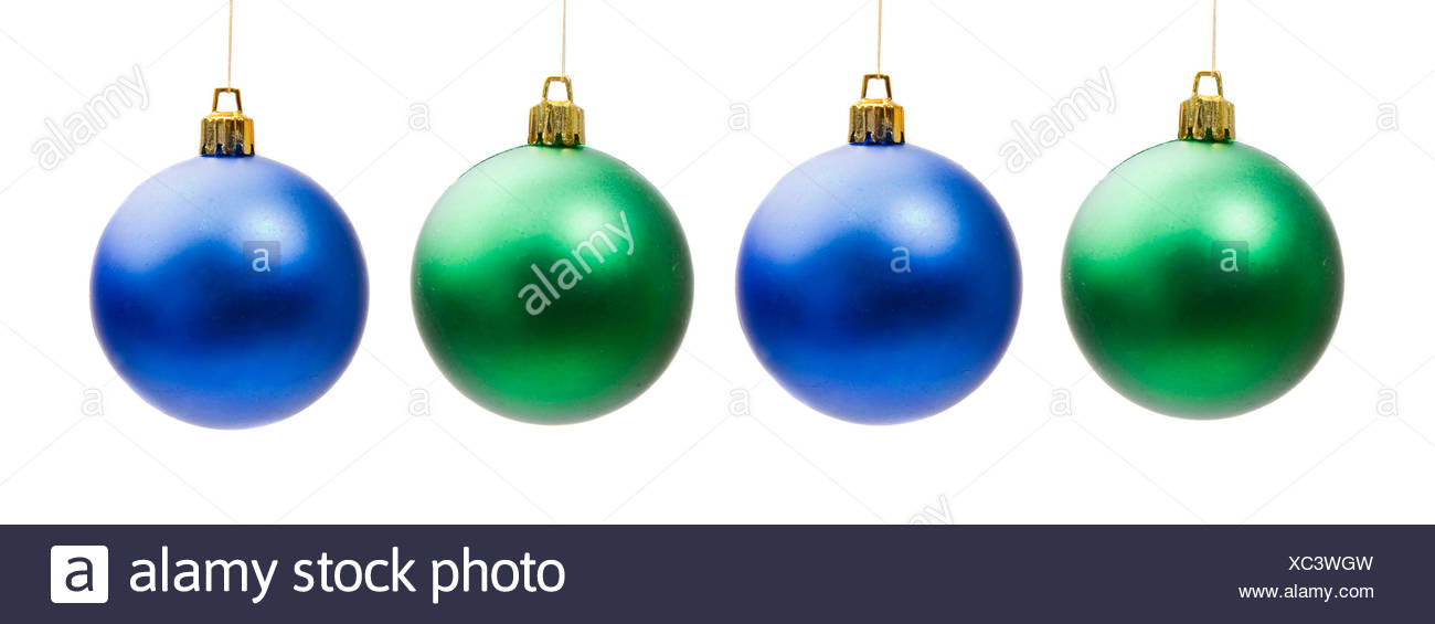 four christmas balls xmas x-mas blue object objects isolated holiday