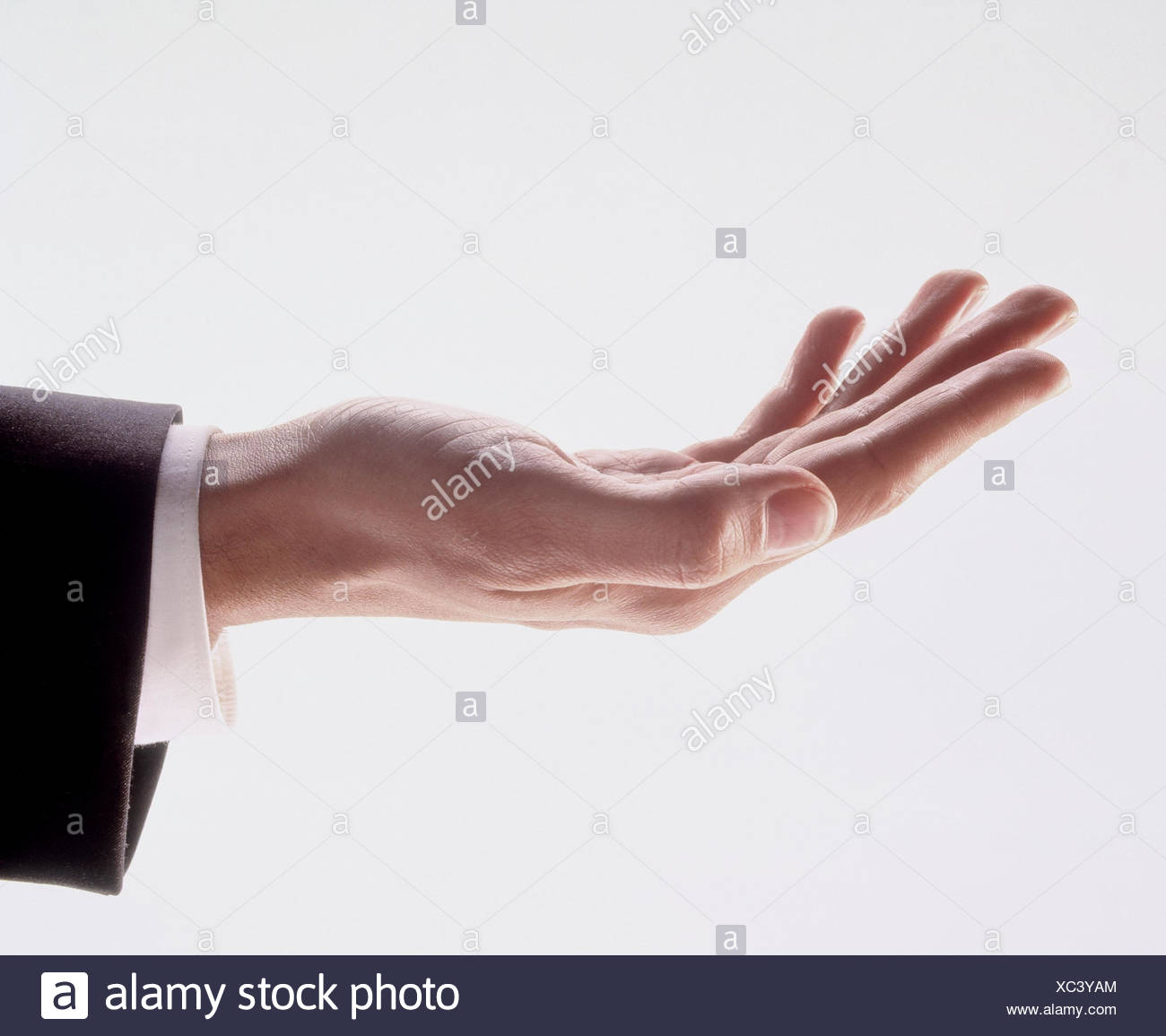Man, detail, hand, detain, copy spaces, ask, take, contribution, preserved, request, request, donation, donation request - Stock Image