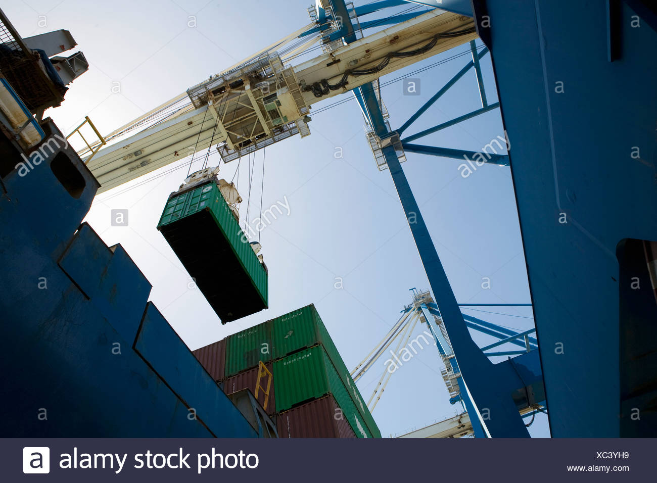 Limassol, Cyprus, dockside crane - Stock Image