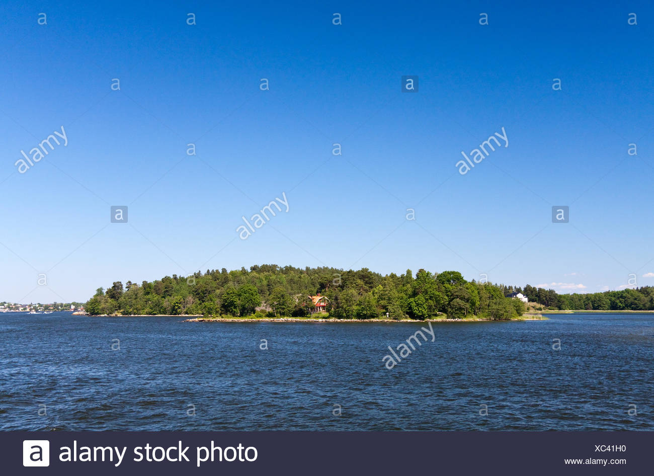 small island in the stockholm archipelago,vaxholm - Stock Image