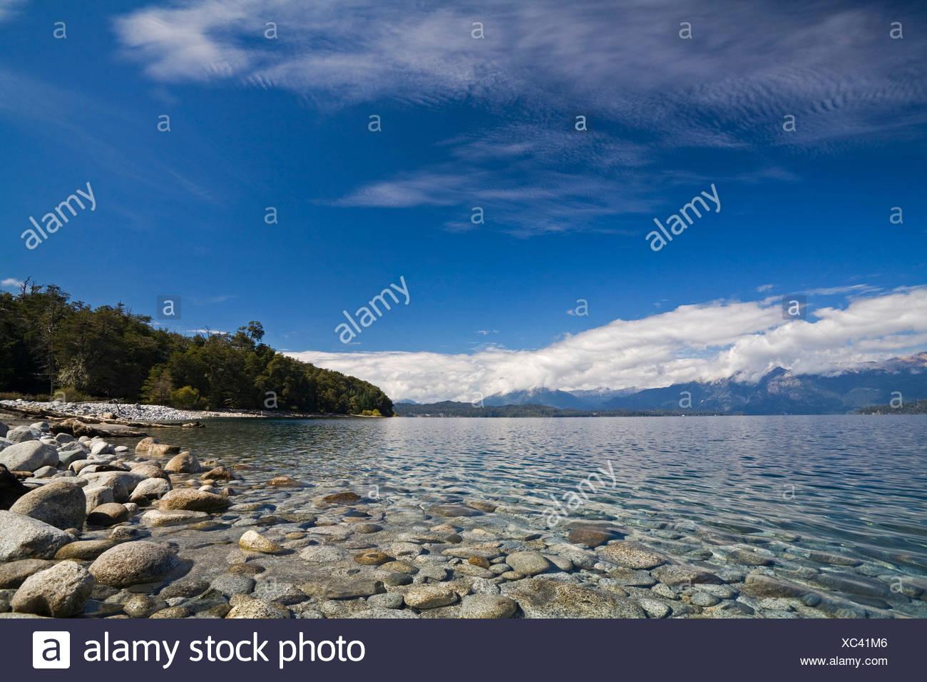 Lake Nahuel Huapi, national park Parque Nacional Nahuel Huapi, lake region of northern Patagonia, Argentina, South America Stock Photo