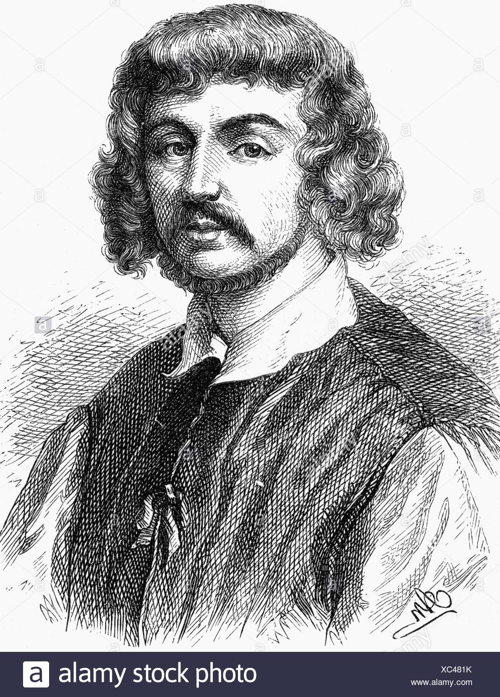 Lorrain, Claude, 1600 - 23.11.1682, French painter, portrait, wood engraving, 19th century, , Additional-Rights-Clearances-NA - Stock Image