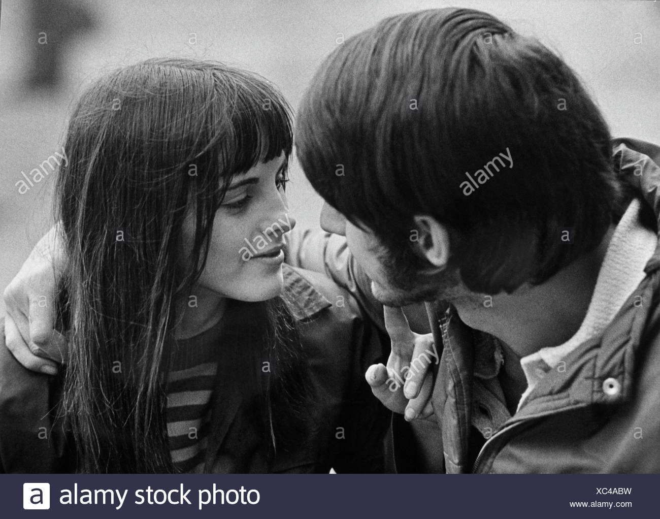 Couple, East Germany, around 1970 - Stock Image