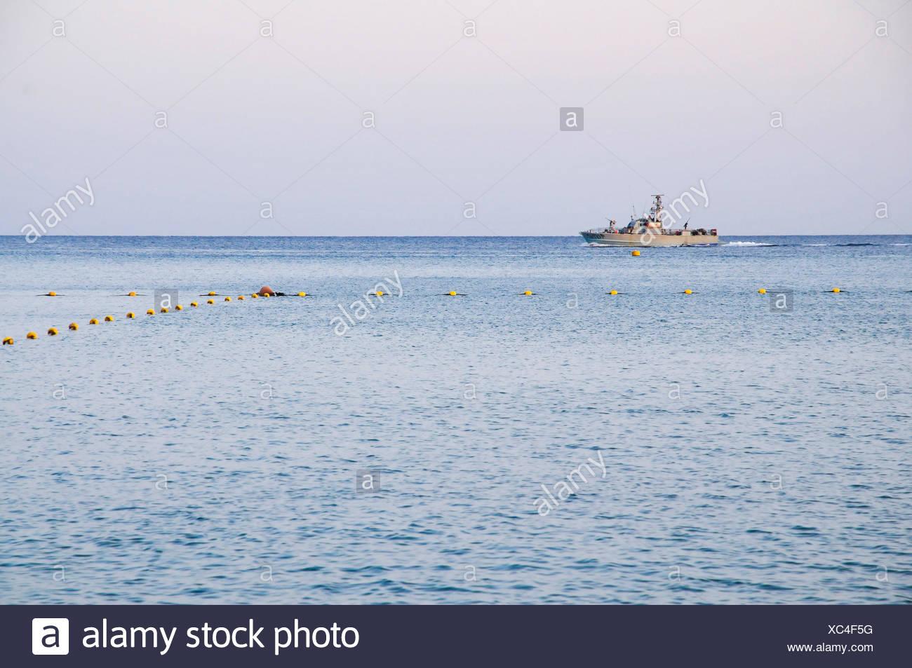 Israel, Eilat, Israeli navy Dabur class patrol boat in the