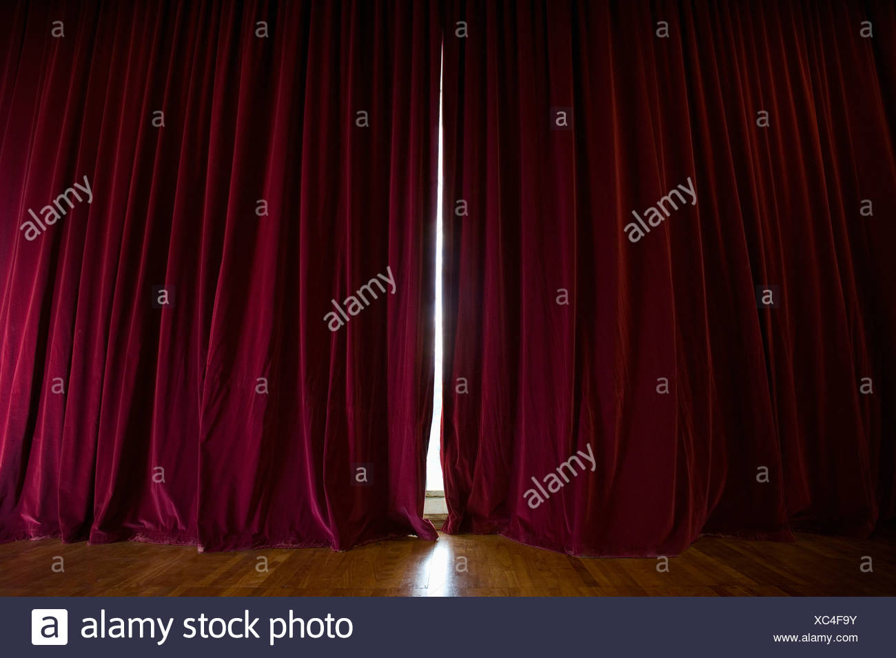 Stage curtains - Stock Image