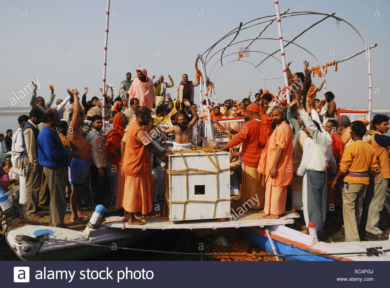 Funeral of Sadhu, India - Stock Image