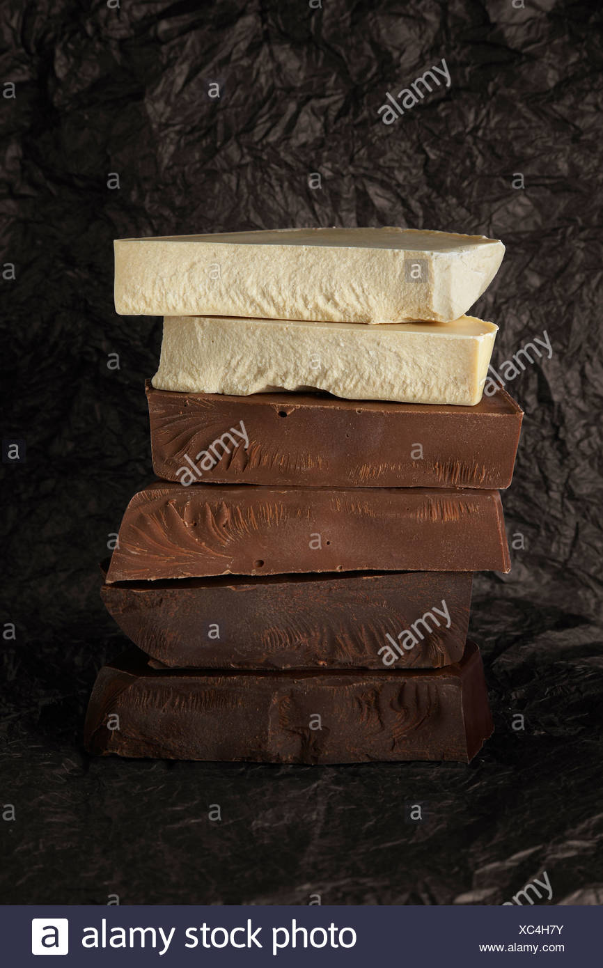 Chocolate stack - Stock Image