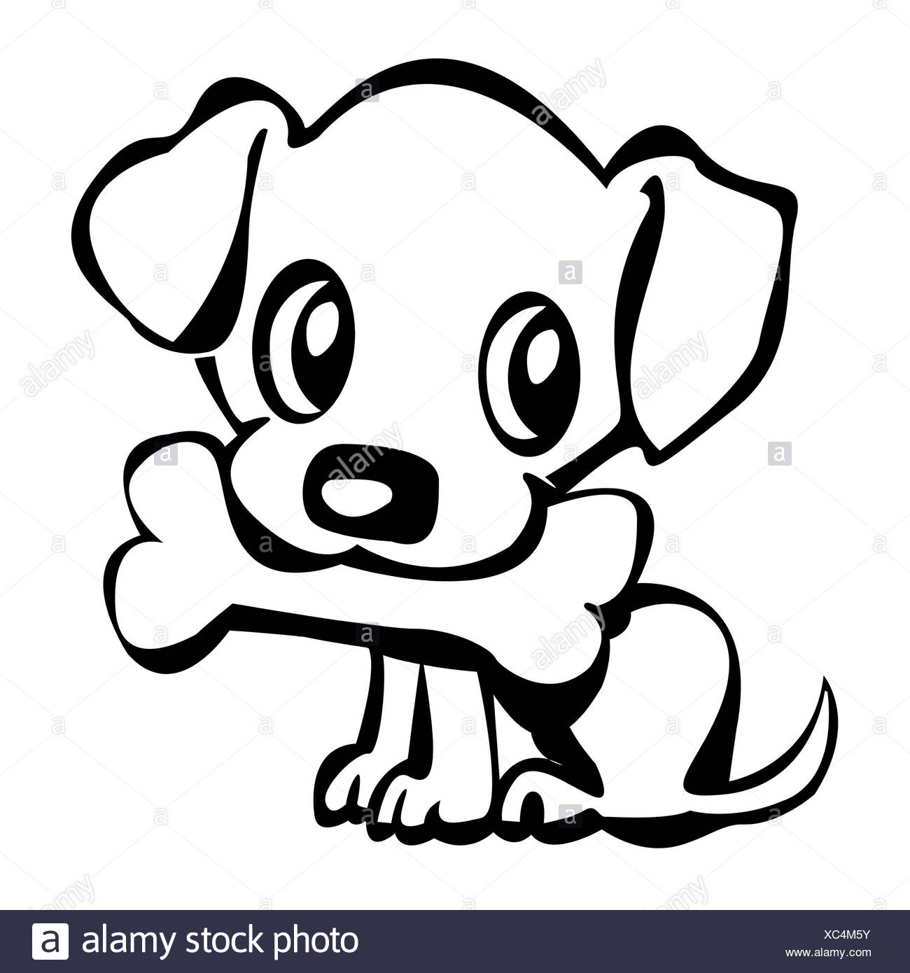 Food Aliment Art Dog Bone Bark Cartoon Maddening Pert Coquettish Cute Food Stock Photo Alamy