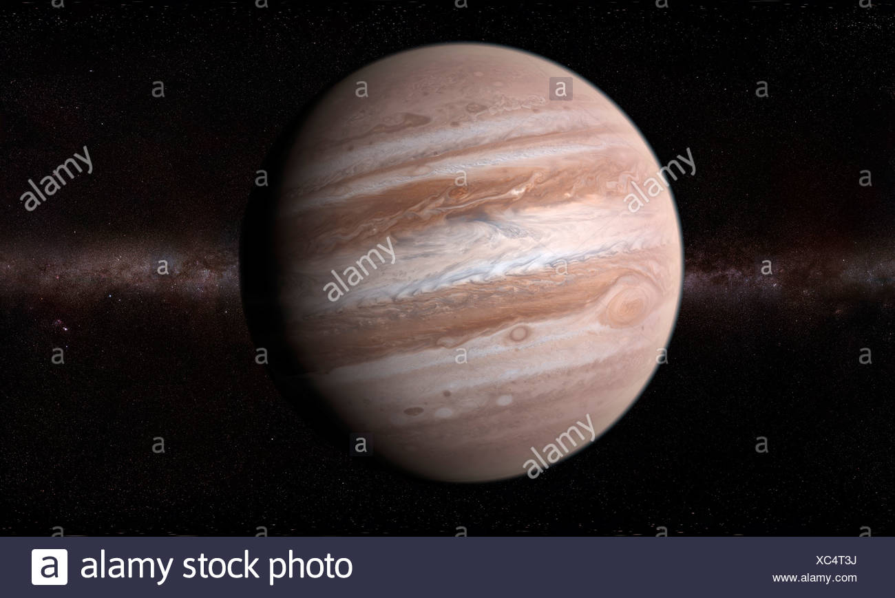 Jupiter, artwork - Stock Image