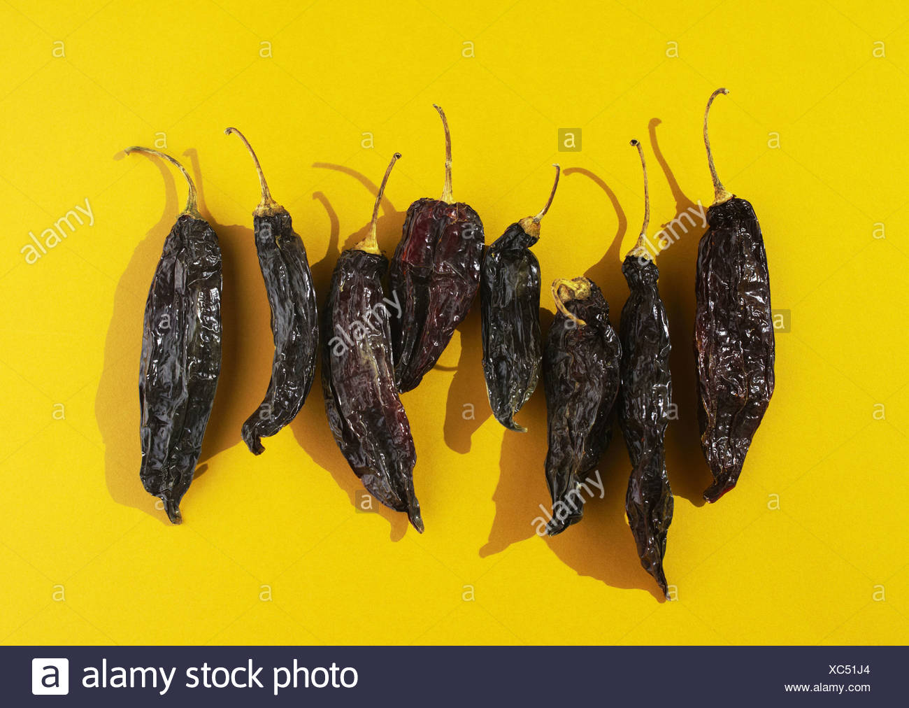 Mirasol hot pepper Stock Photo