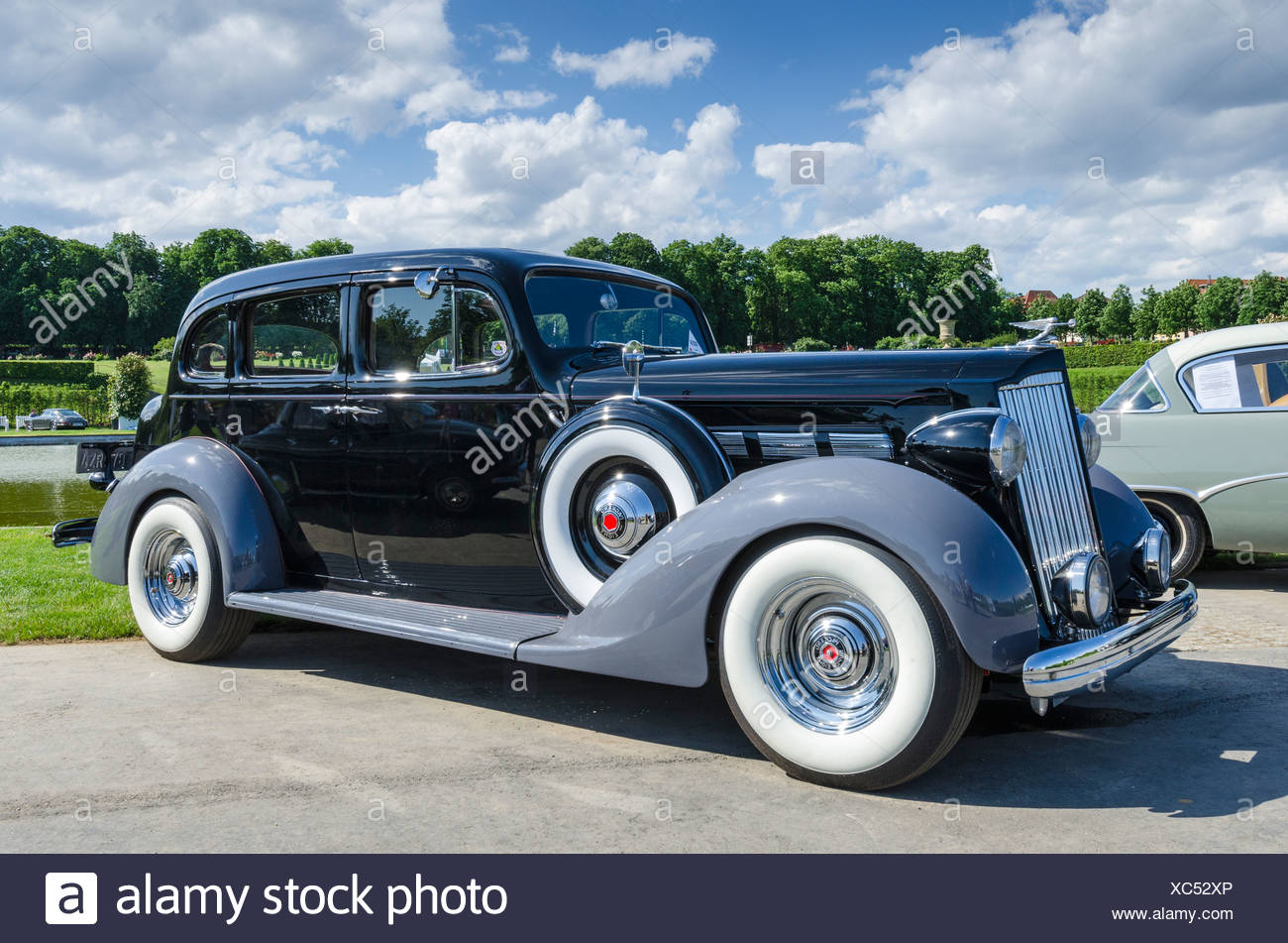 Vintage U.S.-American Packard Eight, built from 1938, festival of ...