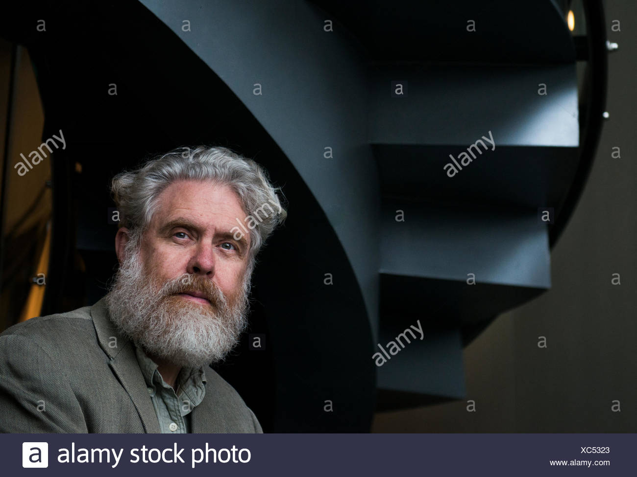 Portrait of Dr. George Church, initiator of The Human Genome Project, at Harvard University. - Stock Image