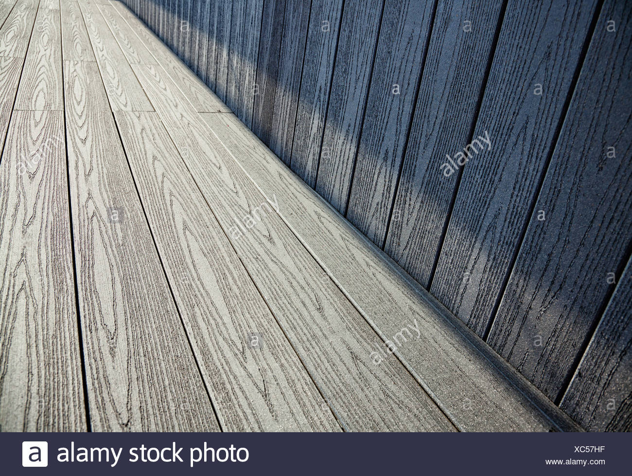perspective wooden interior, is empty for your design - Stock Image