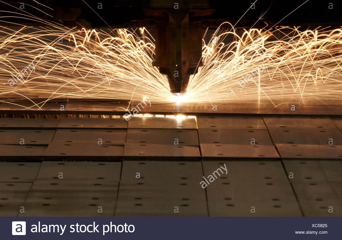 Laser cutting, numerical control, metallurgy, Gipuzkoa, Euskadi, Spain - Stock Image