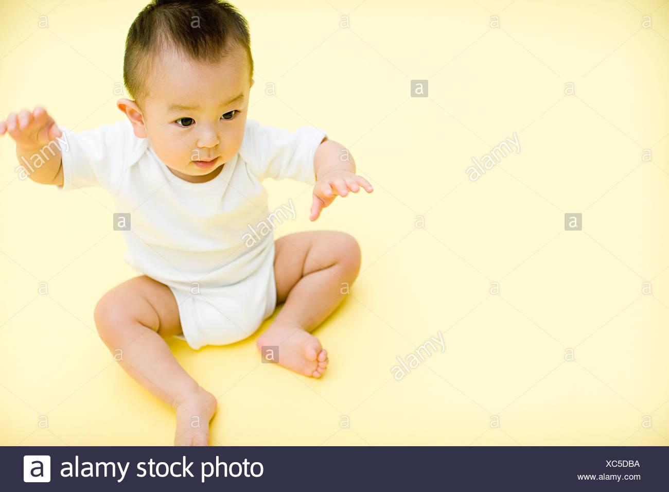 Cute baby - Stock Image