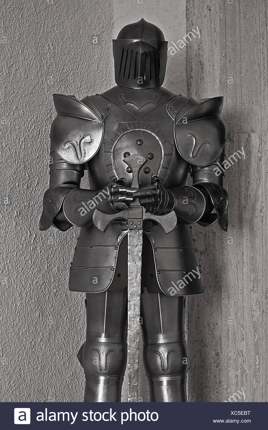 suit of armor - Stock Image