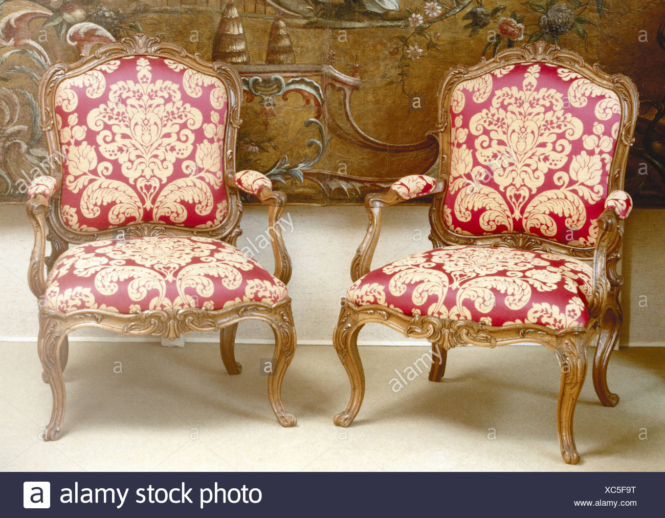 antiques st furniture chairs 18 cent ludwig xv antiquitt old antique armchair furniture seat piece furniture two decorates red interior product photography still life image