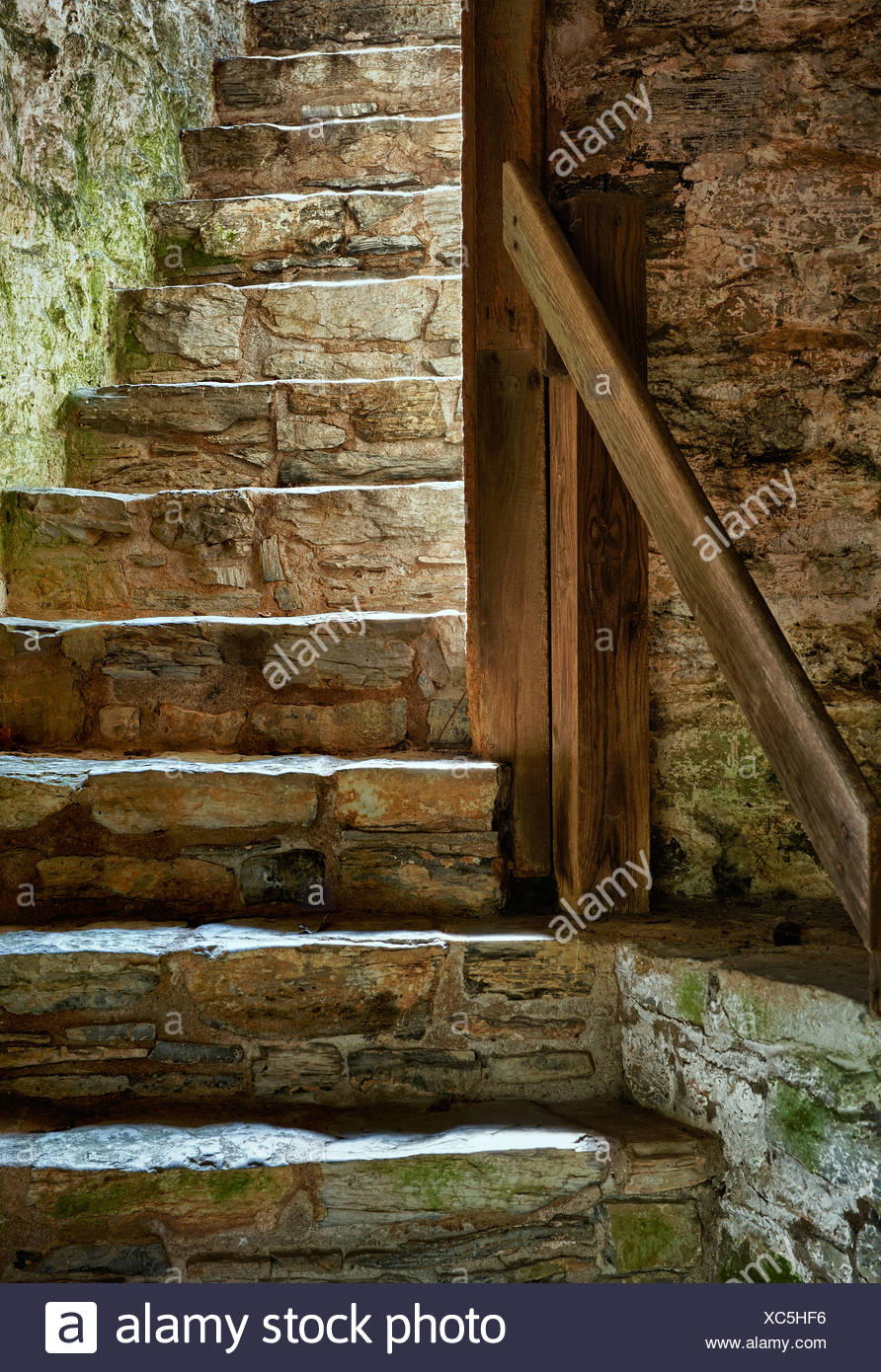 Stone stairs. - Stock Image