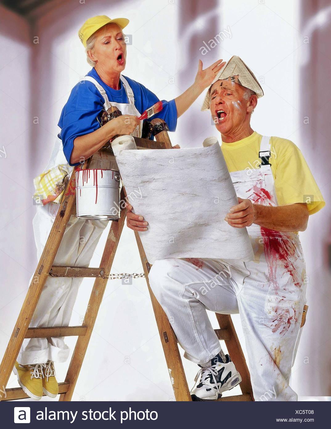 Do It Yourself Senior Couple Renovation Wallpaper Colour