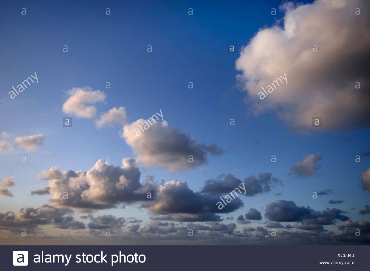 Cloud formation with depth - Stock Image