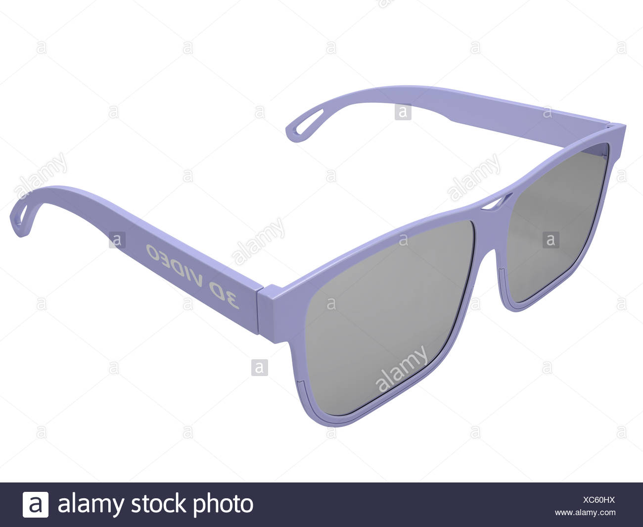 3Dl glasses for three-dimensional video - Stock Image