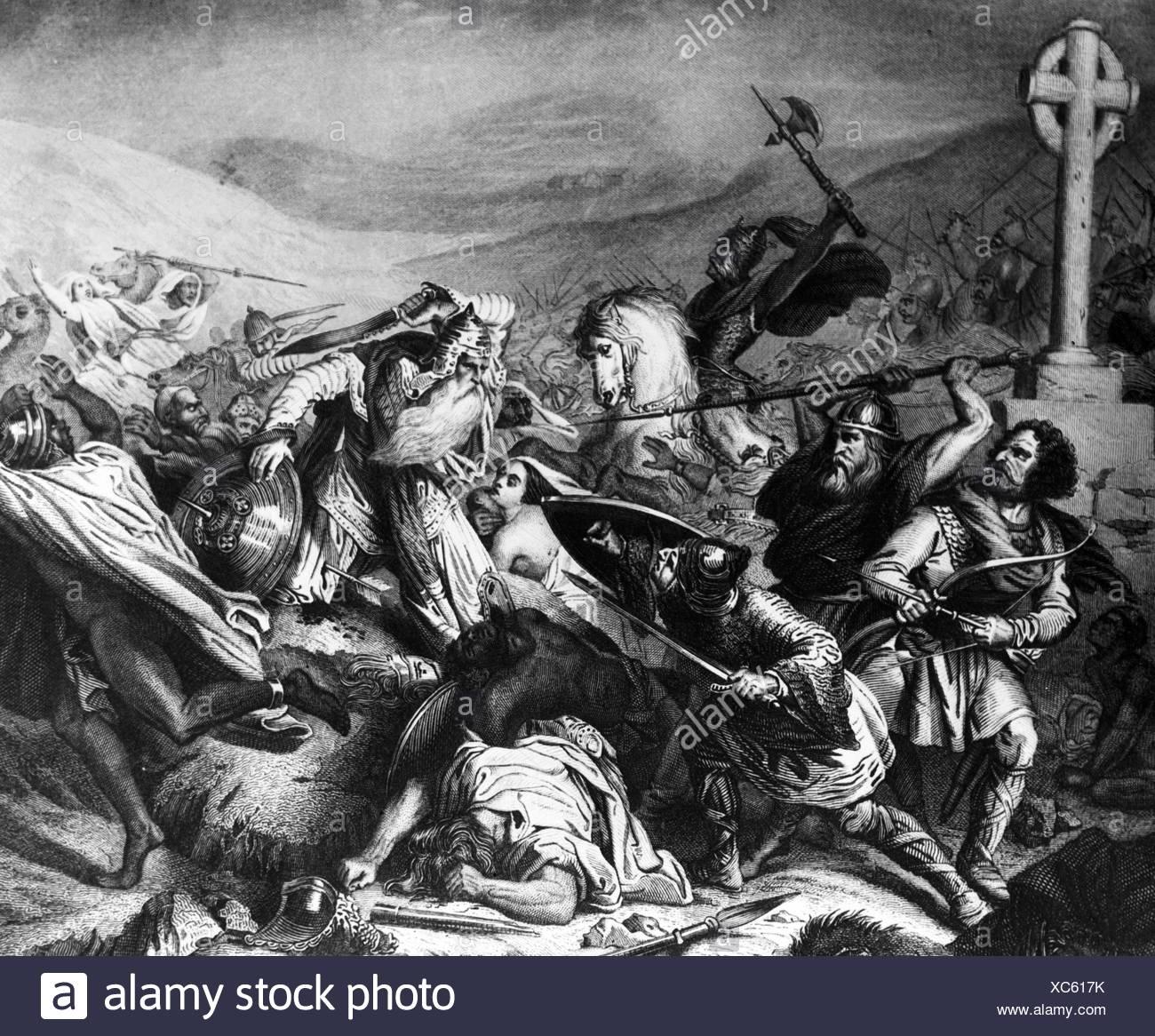 Battle scene - Stock Image