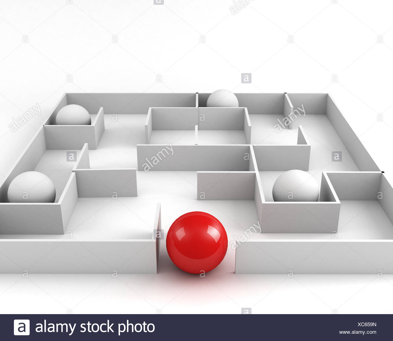 way out. leadership concept - Stock Image