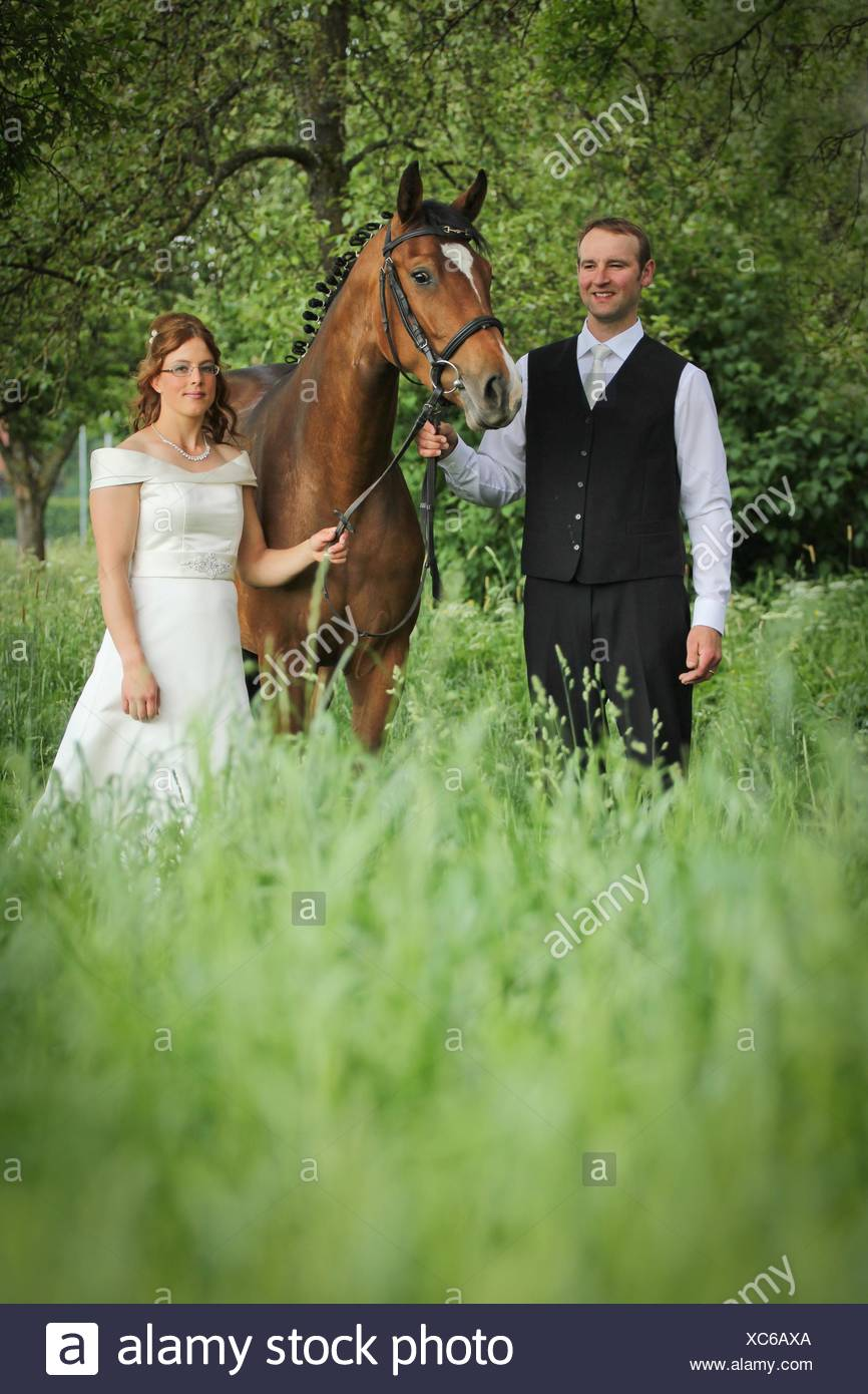 newlyweds and warmbood - Stock Image