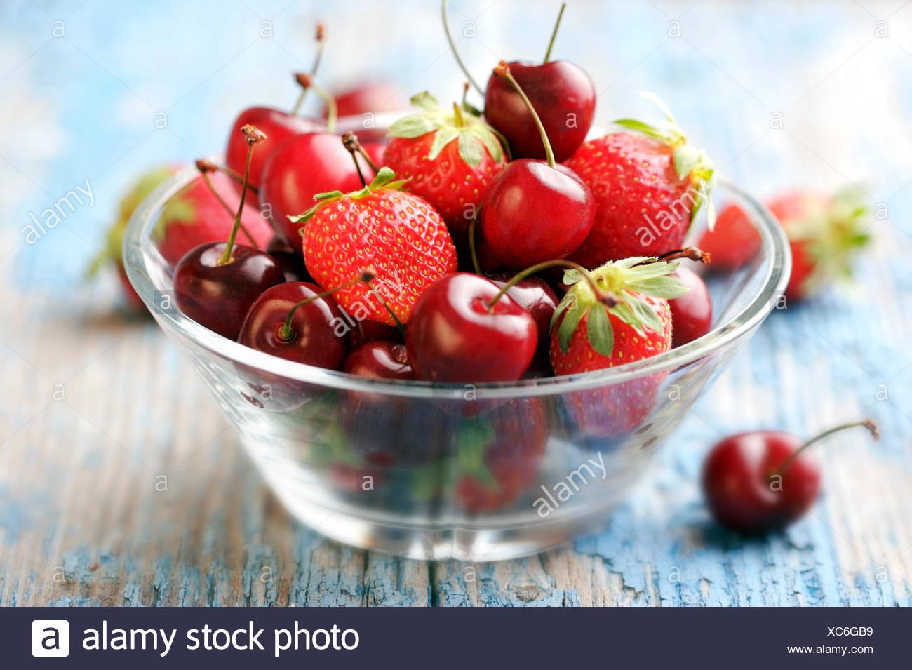 summer summerly raspberries - Stock Image