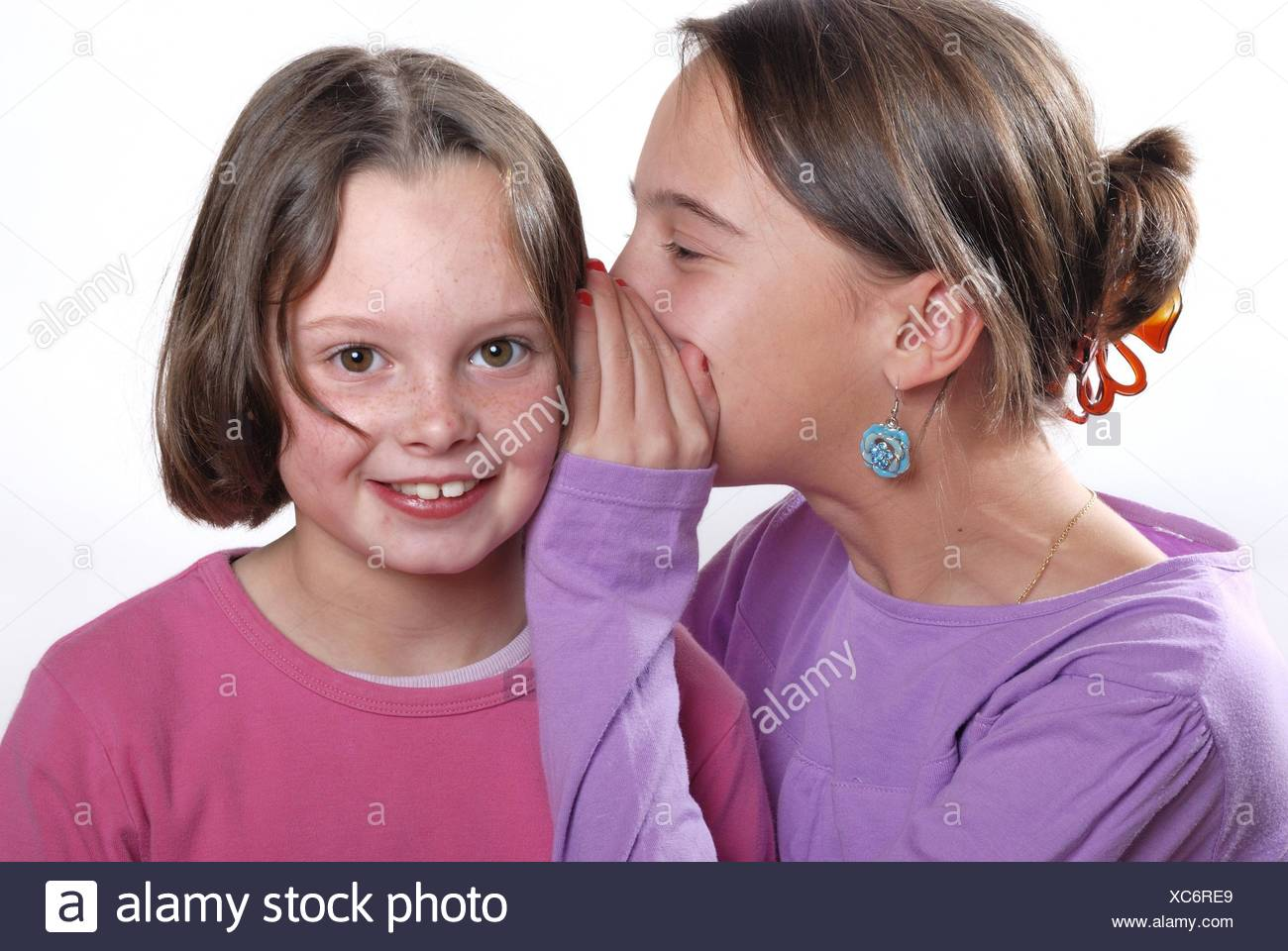 complicity between sisters. - Stock Image