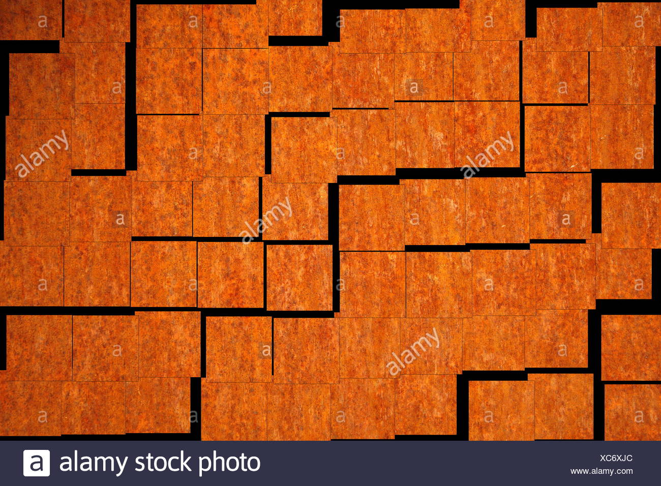 mosaic in the design of a rusty sheet - Stock Image
