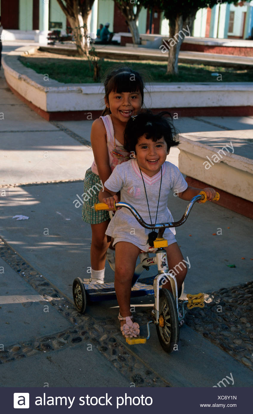 Mexico Nayarit Mexcaltitan children - Stock Image