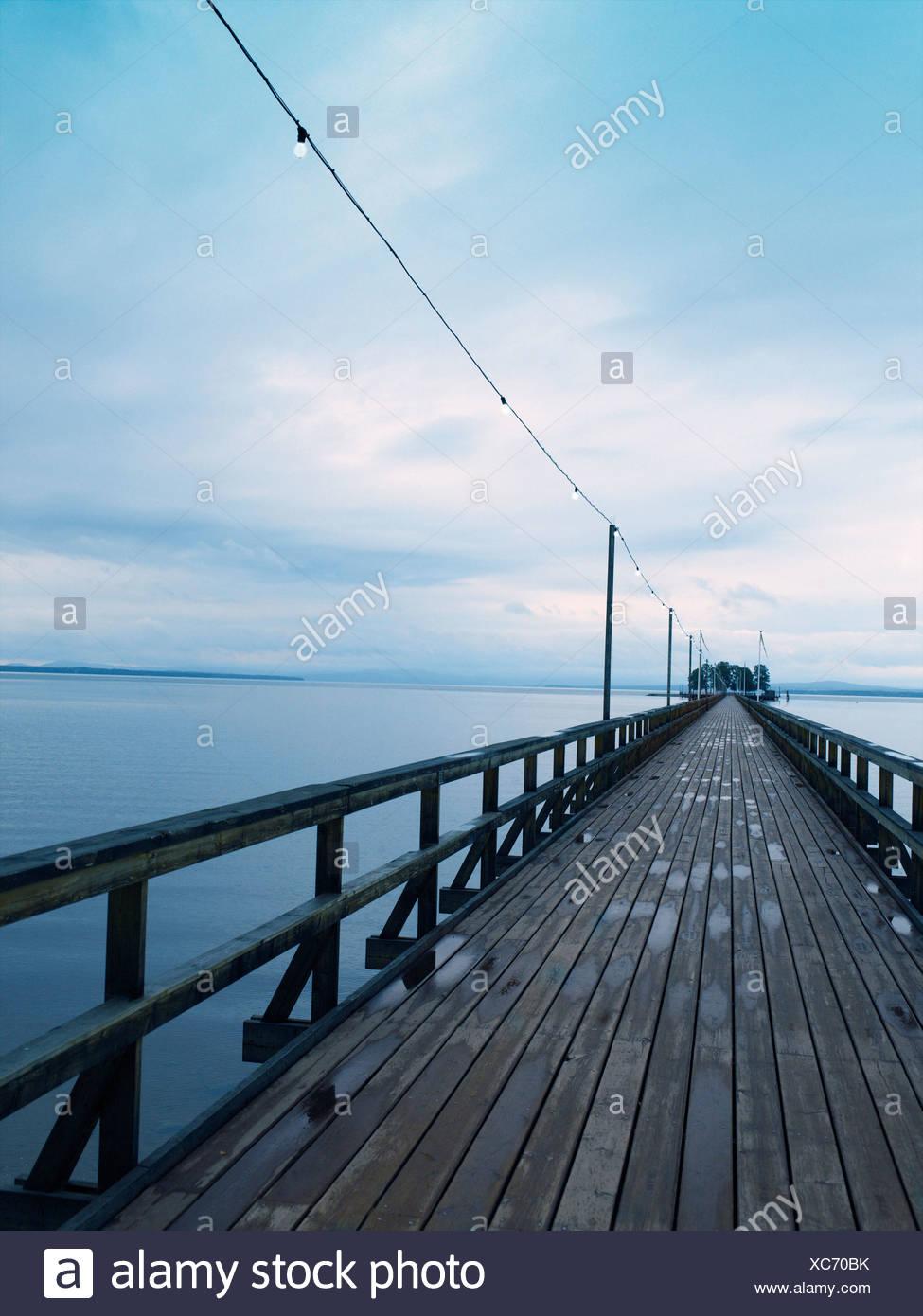 A boardwalk in Dalarna Sweden. - Stock Image