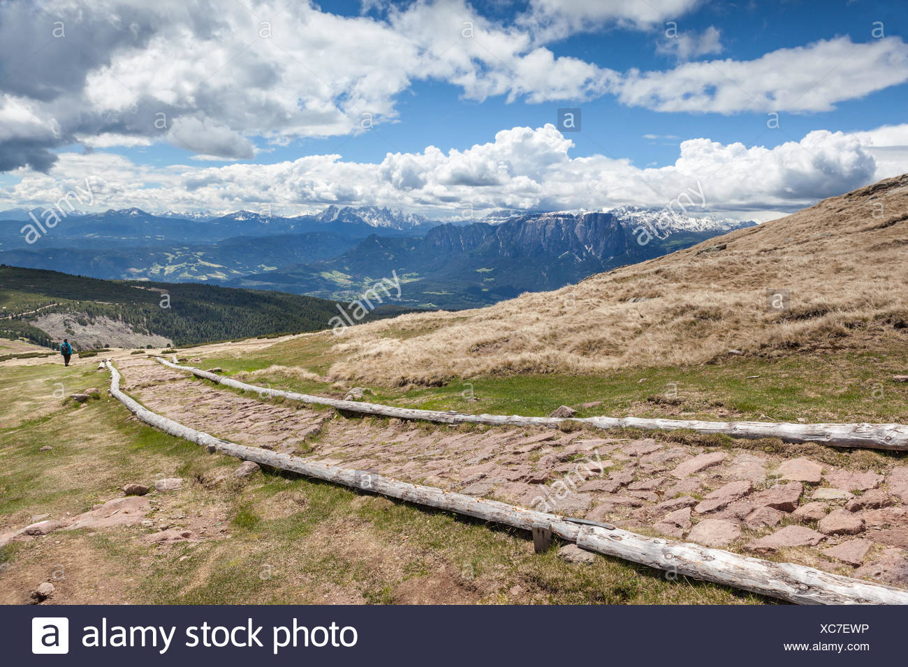 geography / travel, Italy, South Tyrol, promotion the Schwarzseespitze (peak)to the Rittner horn (2260 m), ride, Additional-Rights-Clearance-Info-Not-Available - Stock Image